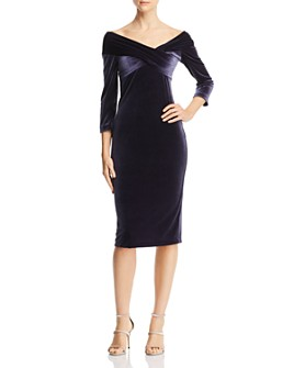 Finders Keepers - Romana Off-the-Shoulder Velvet Dress