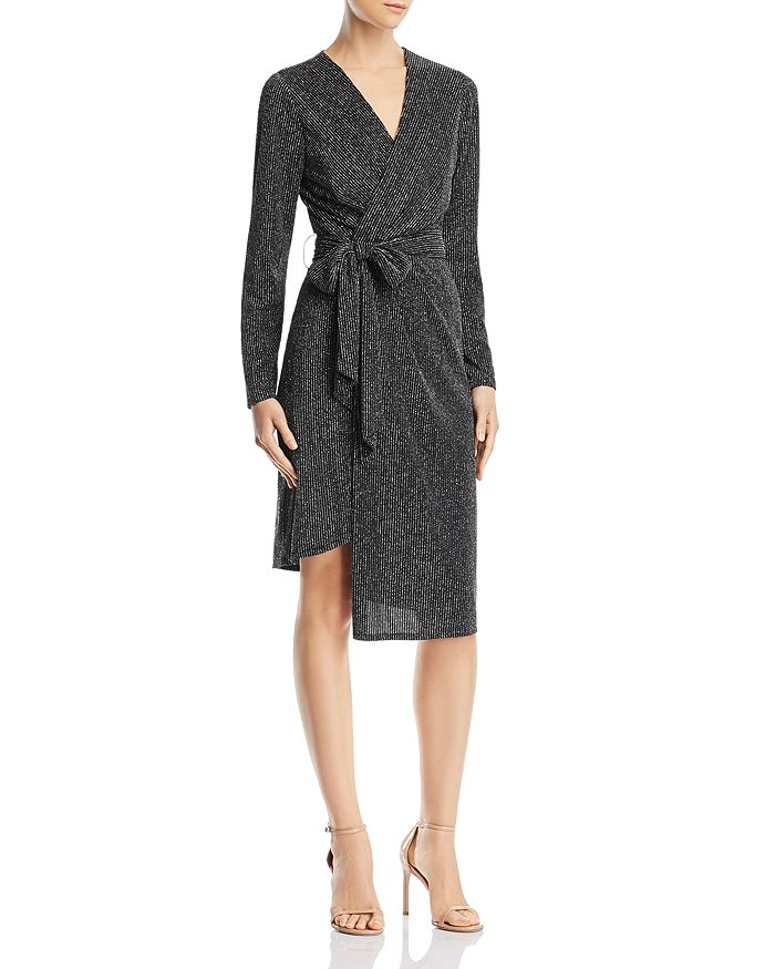 56960dcefa1 Sam Edelman Metallic Faux-Wrap Dress | Bloomingdale's