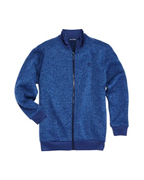 Brooks Brothers - Boys' Marled Fleece Zip-Up Sweater - Big Kid