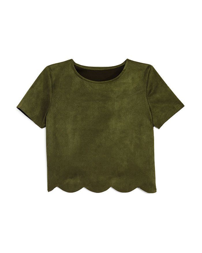 AQUA - Girls' Faux-Suede Top, Big Kid - 100% Exclusive