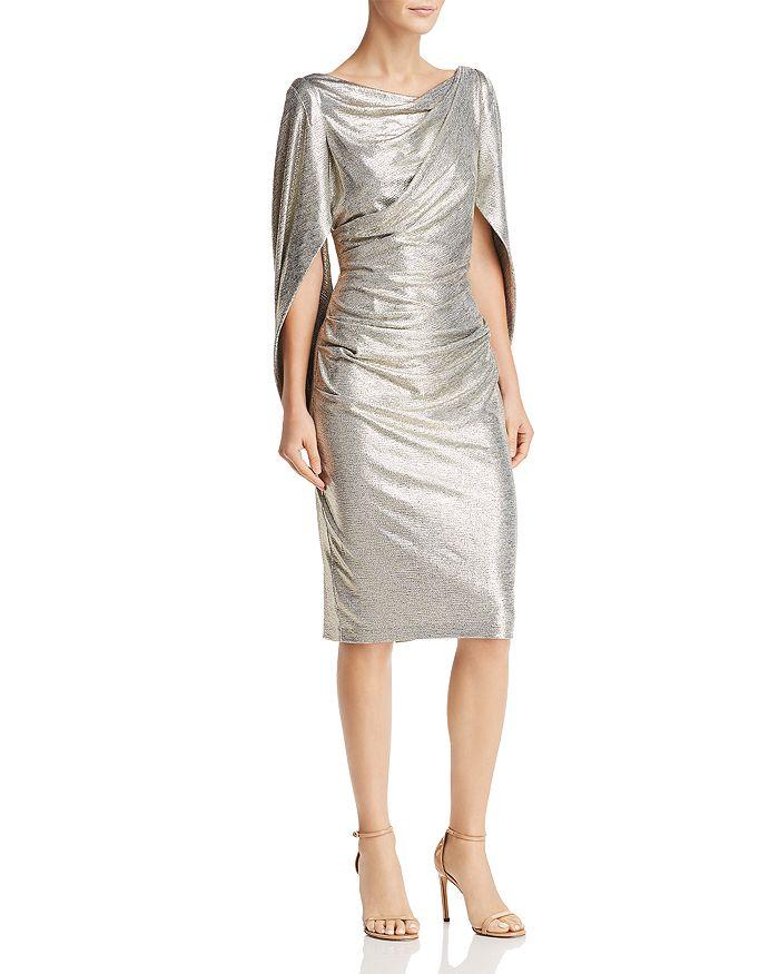 Avery G - Draped Metallic Dress