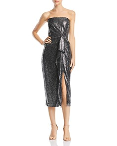Rachel Zoe - Marie Metallic Strapless Dress - 100% Exclusive