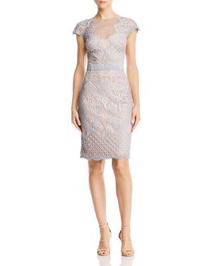 Tadashi Shoji Cap-Sleeve Lace Dress