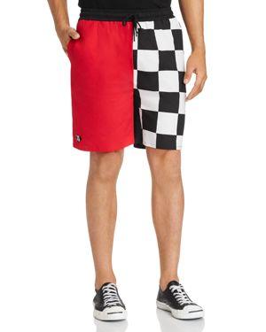 NANA JUDY Nana Judy X Disney Checker Color-Block Shorts in Black/Red