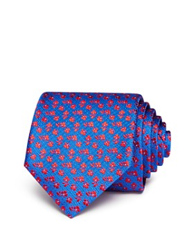 Canali - Tossed-Floral Silk Classic Tie