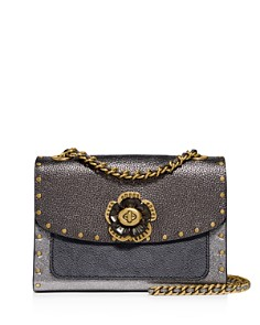 COACH - Parker 18 Signature Coated Canvas, Metallic & Exotic Leather Convertible Shoulder Bag