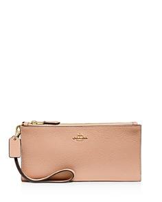 COACH - Leather Double Zip Wallet