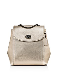 COACH - Parker Metallic Leather Backpack