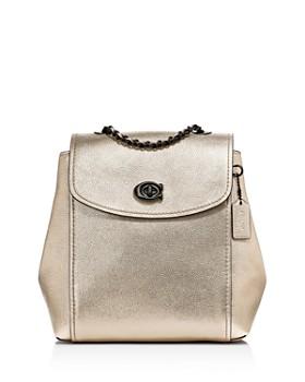 COACH - Parker Metallic Leather Backpack ... 2ca29880a4f6e