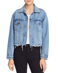 Pistola - Naya Cropped Boyfriend Fit Denim Jacket