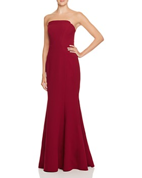 Jill Jill Stuart - Strapless Deco-Detail Gown - 100% Exclusive