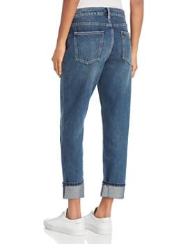Current/Elliott - The Fling Cropped Boyfriend Jeans in 1 Year Worn Rigid Indigo