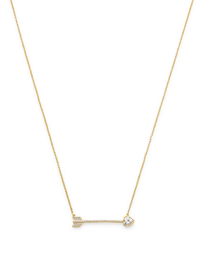 kate spade new york - Heart Arrow Pendant Necklace, 16""