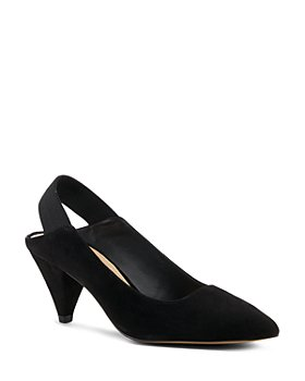 Botkier - Women's Cobble Hill Cone Heel Suede Slingback Pumps