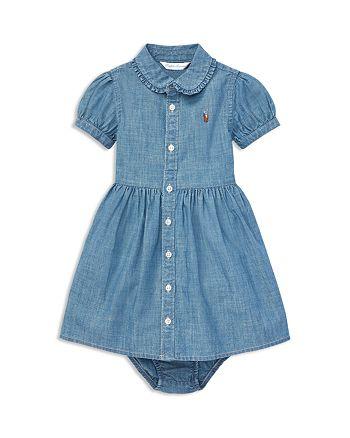 3b206bff Ralph Lauren Girls' Ruffled Chambray Shirt Dress & Bloomers Set ...