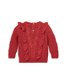 Ralph Lauren - Girls' Ruffled Aran-Knit Sweater - Baby