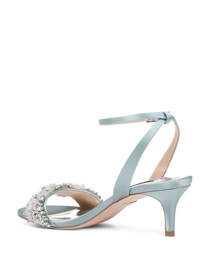 f2ce61df3d45 Badgley Mischka Women s Fiona Embellished Kitten Heel Sandals ...