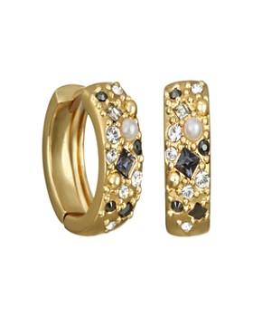 KARL LAGERFELD Paris - Crystal Mini Huggie Hoop Earrings