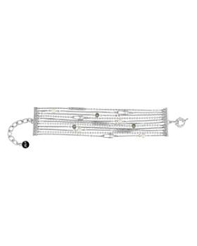 KARL LAGERFELD Paris - Safety Pin & Pearl Multi Strand Bracelet