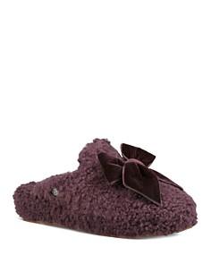 UGG® - Women's Addison Velvet Bow Slippers