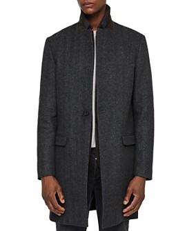 ALLSAINTS - Merton Herringbone Layered-Look Coat