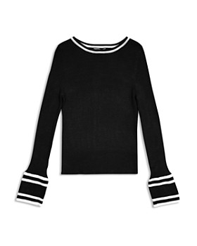 Habitual Kids - Girls' Rylie Striped Bell-Sleeve Sweater - Little Kid