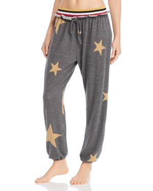 VINTAGE HAVANA Star-Print Jogger Pants in Charcoal
