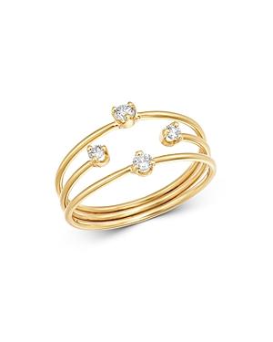 Zoe Chicco 14K Yellow Gold Mixed-Size Diamond Band