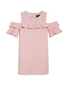 Bardot Junior - Girls' Tilvie Ruffled Cold-Shoulder Shift Dress - Little Kid