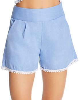 Peixoto - Copacabana High-Waist Swim Cover-Up Shorts
