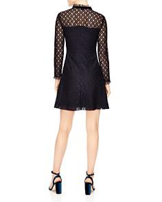 Sandro - Vegetale Sheer-Detail Lace Mini Dress