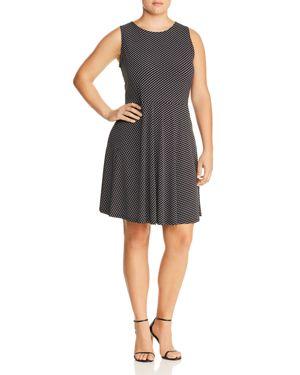 Leota Plus Ava Printed Fit-and-Flare Dress