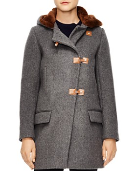 Sandro - Matteo Sheep Shearling-Trimmed Coat