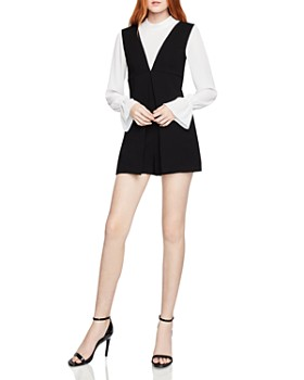 bd2e813fe758 BCBGENERATION - Layered-Look Romper ...
