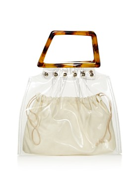 AQUA - Clear Tote with Tortoise Handles - 100% Exclusive