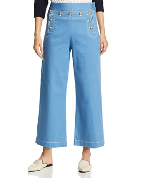 0cb084d87f8 Tory Burch - Cropped Sailor Jeans in Rinse ...
