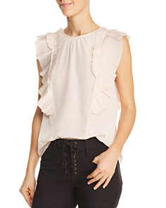 Joie - Cruzita Pleated-Ruffle Blouse