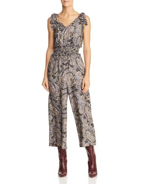Rebecca Taylor Paisley Silk Jumpsuit