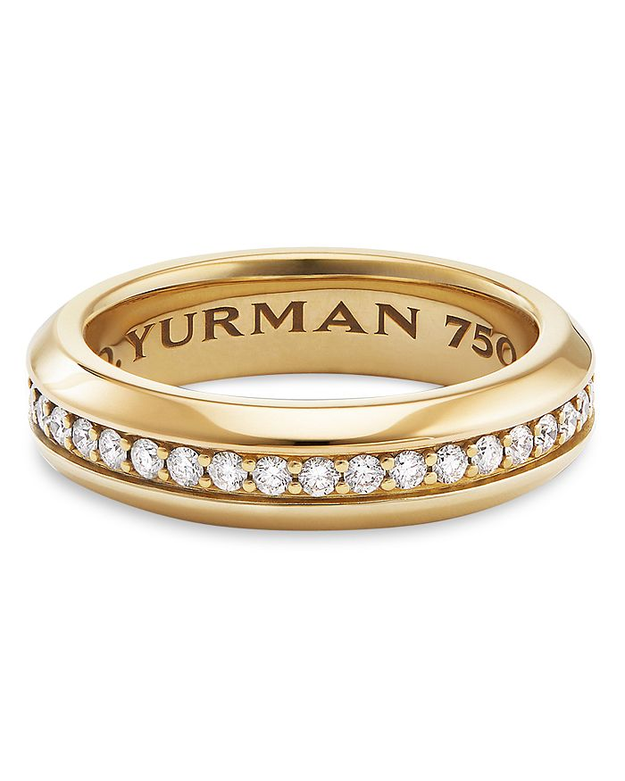 9329aa5c403a6 Streamline Band Ring in 18K Yellow Gold with Diamonds