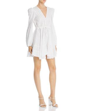 A MERE CO. Victoria Crochet-Trim Dress in White