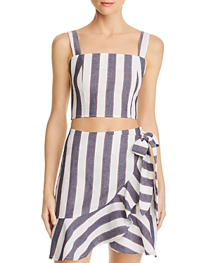 The Fifth Label SEQUENCE STRIPED CROPPED TOP