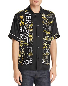 Versace Jeans - Short-Sleeves Logo Color-Block Regular Fit Shirt