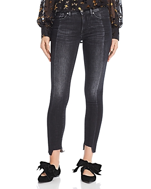 Hudson NICO MID RISE SUPER SKINNY ANKLE JEANS IN BLACK SAND