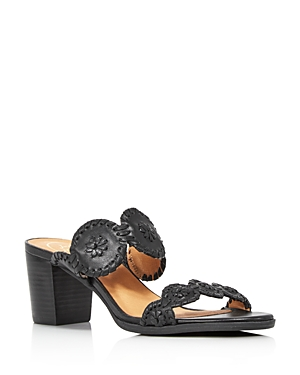 Jack Rogers Women's Lauren Mid Heel Leather Sandals