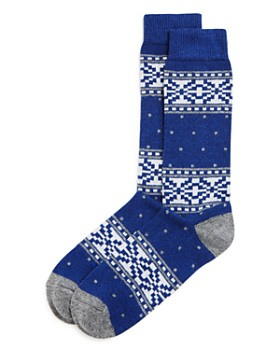 The Men's Store at Bloomingdale's - Fair-Isle Dotted Socks - 100% Exclusive