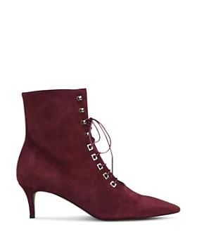 Whistles - Women's Celeste Kitten Heel Suede Boots