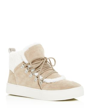 MARC FISHER LTD. Women'S Sana Faux-Shearling High-Top Sneakers in Natural