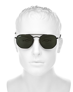 Ray-Ban - Men's Brow Bar Aviator Sunglasses, 51mm