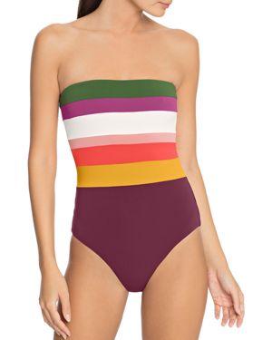 ROBIN PICCONE Suzie Bandeau One Piece Swimsuit in Multi