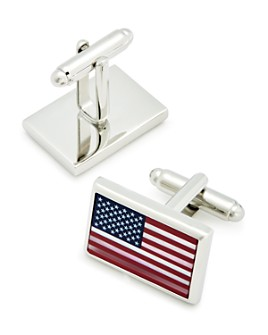 LINK UP - Mother-of-Pearl American Flag Cufflinks